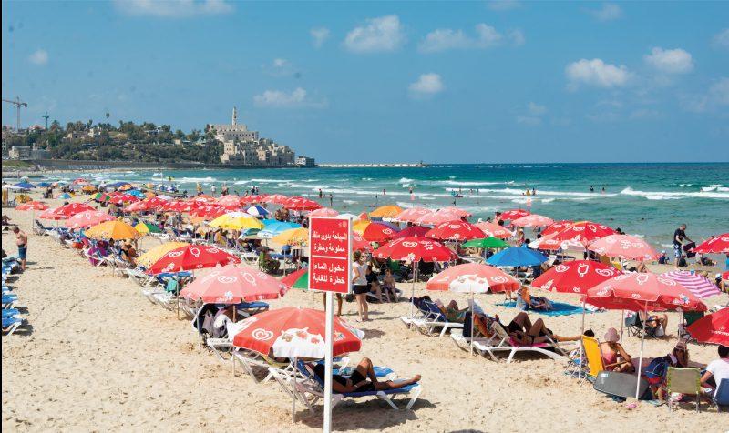 תחזית השינוי הצפוי בטמפרטורת האוויר בארבע ערים בישראל עד שנת 2060
