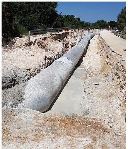 בניית מערכת להובלת המים לאגן הכינרת | צילום: מתן הדרי, באדיבות מקורות