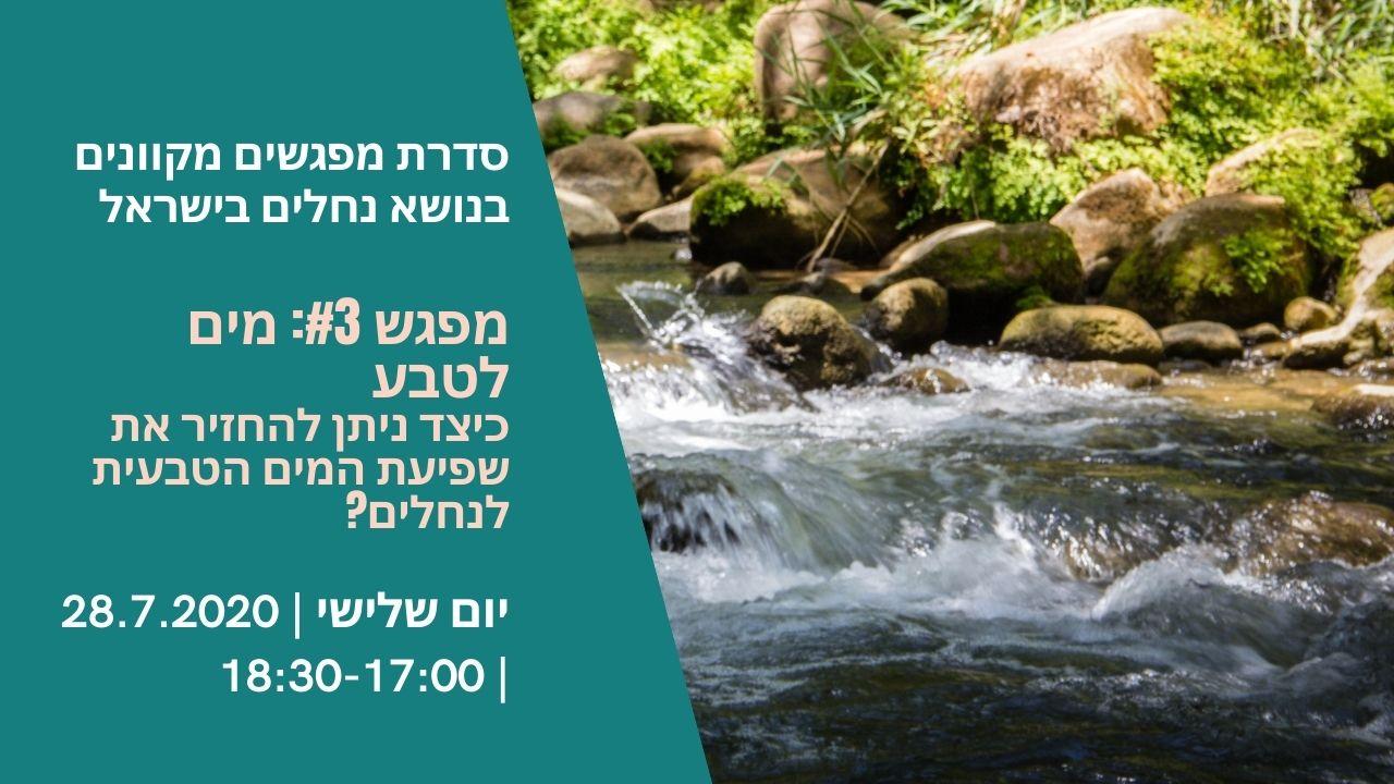 מפגש מקוון: מים לטבע – כיצד ניתן להחזיר את שפיעת המים הטבעית לנחלים?